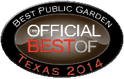 2014 Best Public Garden of Texas