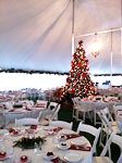 Christmas event in heated tent